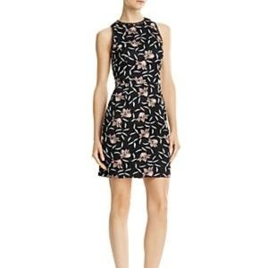 NWT Aidan Mattox Black Floral Dress Size 2